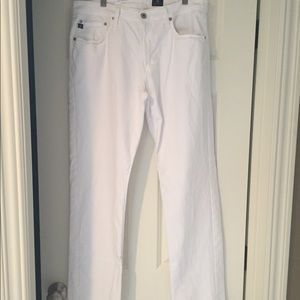 """Men's AG Jeans """"the graduate"""" in white size 34x32"""